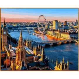 Лондон Babylon - в раме, цветной холст