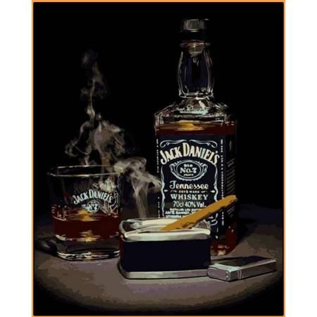 Картина по номерам Джек Дэниэлс Babylon  - в раме, цветной холст NB1114R, Babylon Premium