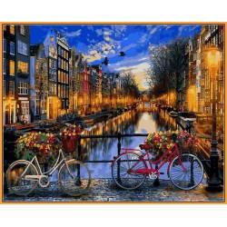 Вечерний Амстердам в красках
