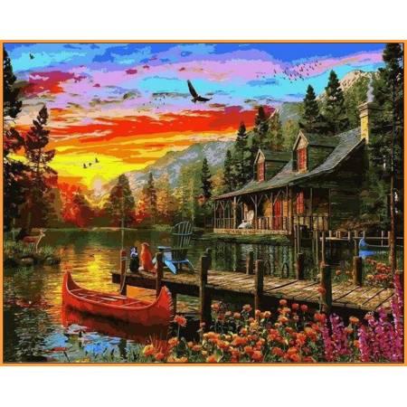 Картина по номерам Сказочное место Babylon  - в раме, цветной холст NB1157R, Babylon Premium