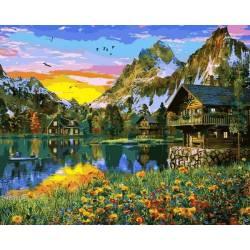 Деревня у горного озера 2