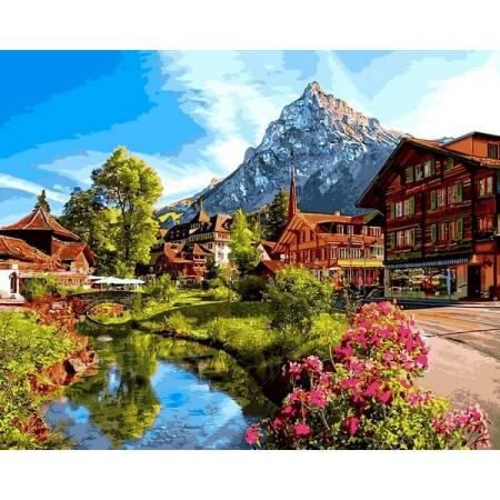 Картина по номерам Альпийский город VP1147, Babylon