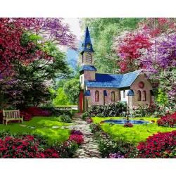 пейзаж цветущего сада
