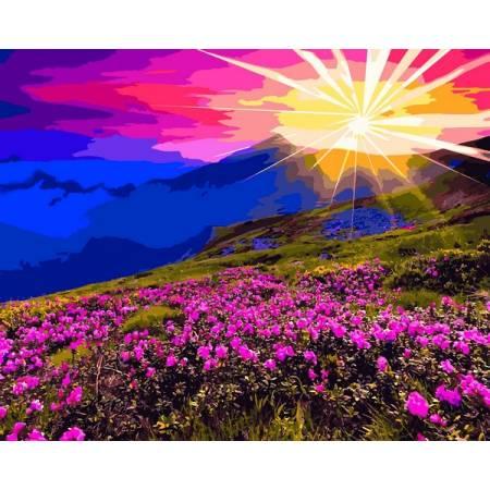 Картина по номерам Рассвет в горах VP1165, Babylon