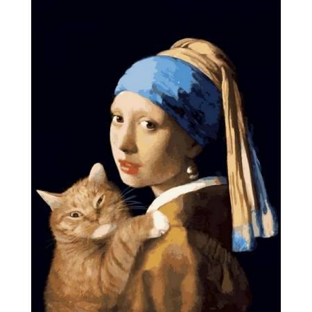 Картина по номерам Девушка с жемчужной сережкой VP1171, Babylon