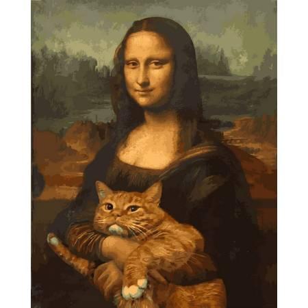 Картина по номерам Мона Лиза с котом VP1172, Babylon