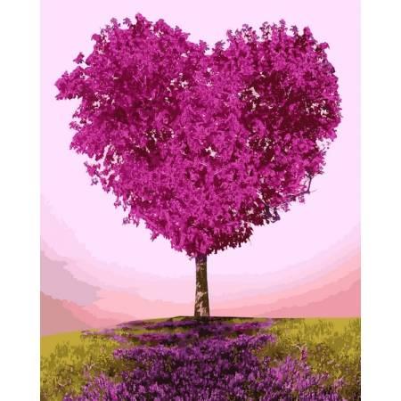 Картина по номерам Дерево-сердце  vp1231, Babylon