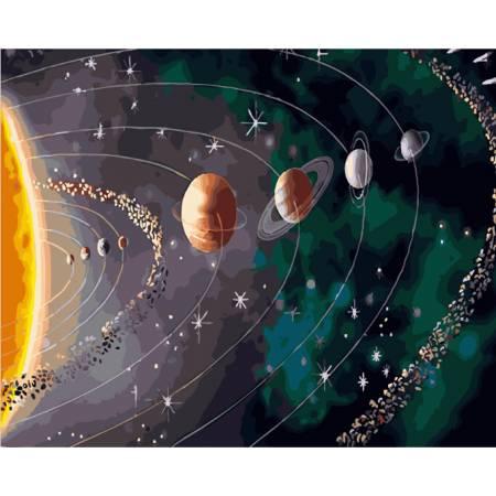 Картина по номерам «Парад планет», модель GX28317