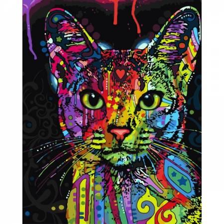 Картина по номерам Абиссинская кошка PGX9868, Rainbow Art
