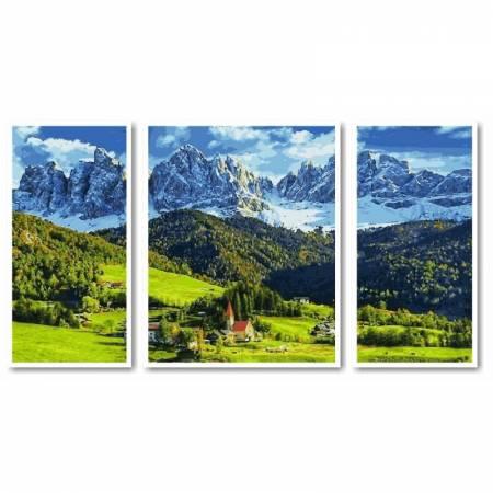 Картина по номерам - Триптих Альпы