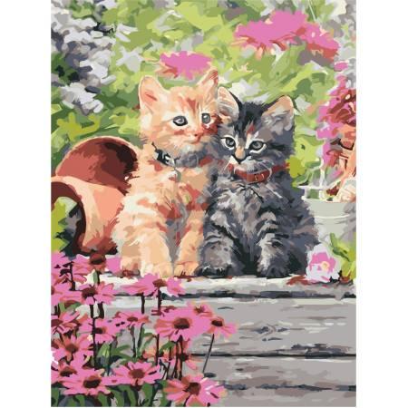 Картина по номерам Котята в селе  AS0922, ArtStory