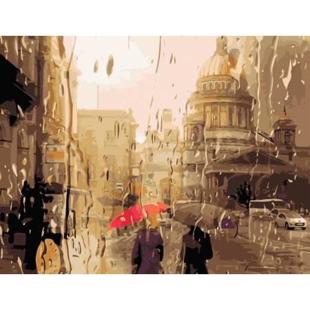 Картина по номерам Дождливый город  AS0963, ArtStory