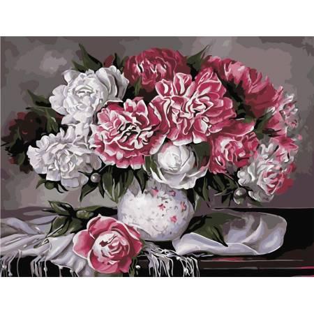 Картина по номерам Королевская красота пионов  AS0970, ArtStory