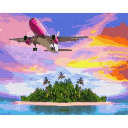 Картина по номерам Полет над островом  GX34499, Rainbow Art