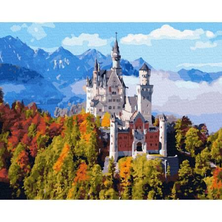 Картина по номерам Горный замок в облаках  GX36143, Rainbow Art