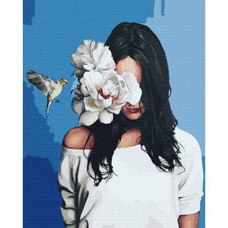 Картина по номерам Девушка с колибри GX36357, Rainbow Art