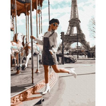 Картина по номерам Качели в Париже 225, Rainbow Art