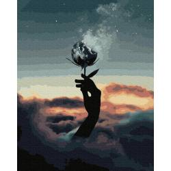 Цветок в дыму