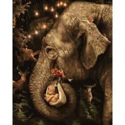 Слон с ребенком