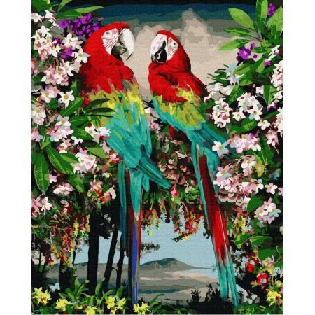 Картина по номерам Зеленокрылые ара GX37060, Rainbow Art