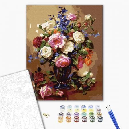 Разнообразный цветной букет