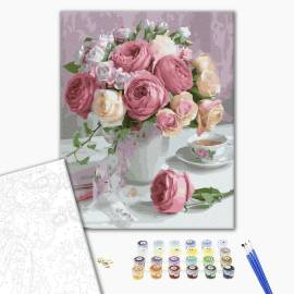 Нежный букет садовых роз