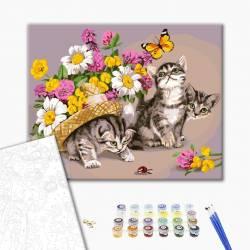 Котики в цветах