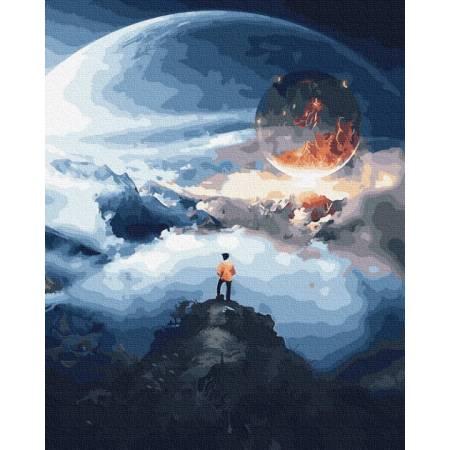 Картина по номерам Космический путешественник  GX31970, Rainbow Art