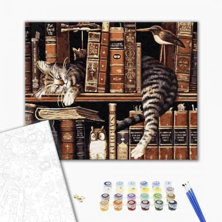 Картина по номерам Спящий кот GX9557, Rainbow Art