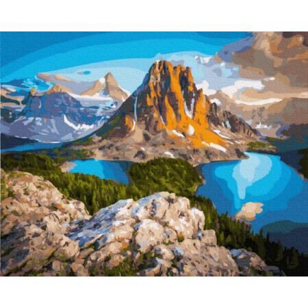 Картина по номерам Озеро у подножья горы  GX21610, Rainbow Art