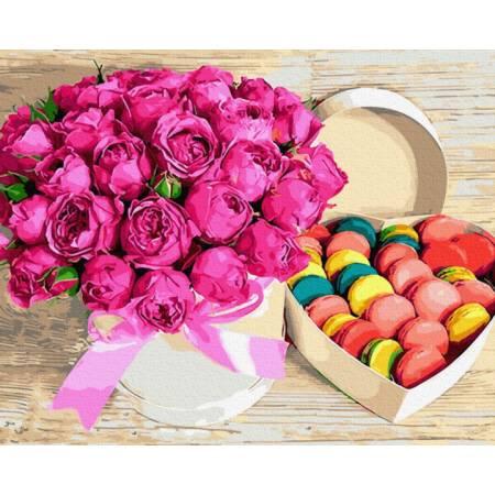 Картина по номерам Цветы и сладости  GX28615, Rainbow Art