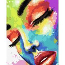 Женщина в красках
