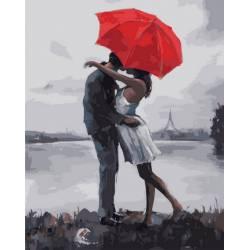 Поцелуй под зонтиком