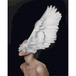 Крыла души премиум, цветной холст