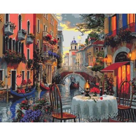 Картина по номерам «Вечер полный романтики Худ. Доминик Дэвисон », модель Q2114