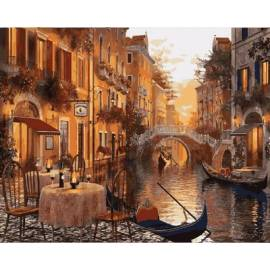 Венеция Кафе на берегу канала
