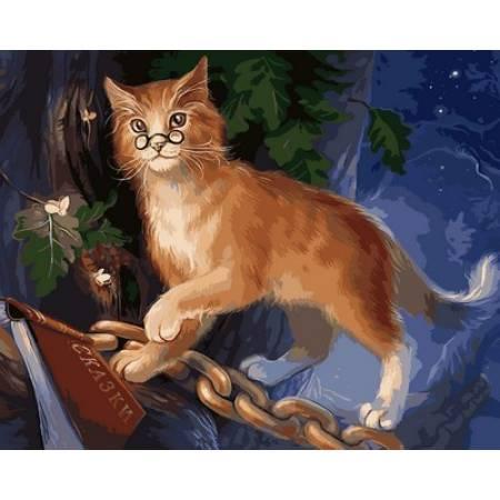 Картина по номерам «Кот ученый Худ. Наталья Мотуз », модель Q2123
