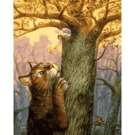 Картина по номерам «Ангел и его кот Худ. Владимир Румянцев  », модель Q2128