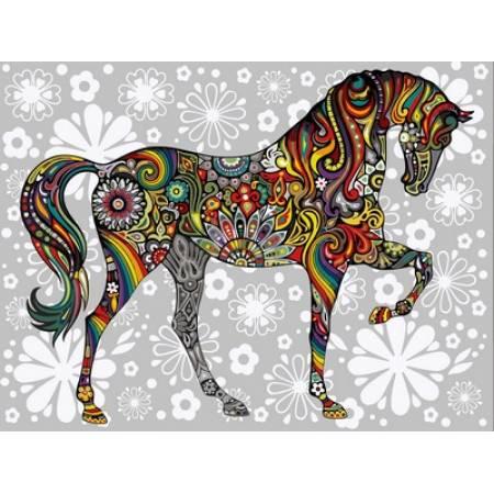 Картина по номерам Цветочный конь VK157, Babylon