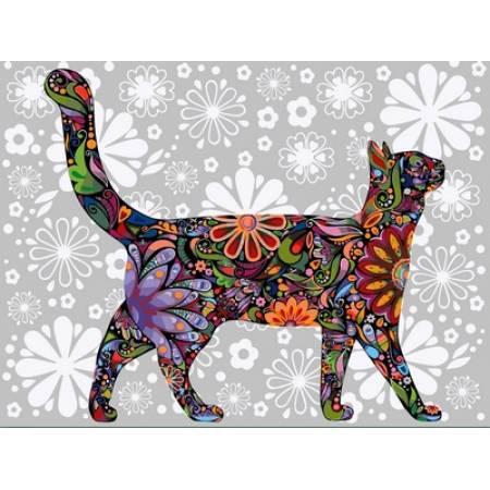 Цветочный кот в профиль