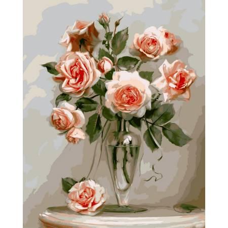 Картина по номерам Кораловые розы VP326, Babylon
