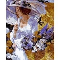 Леди с хризантемами