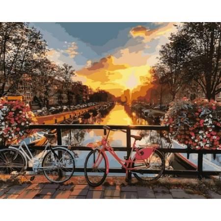 Картина по номерам «Каналы Амстердама», модель vp640