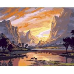 Закат над горной долиной