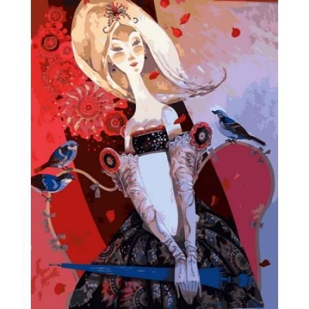 Картина по номерам Леди с зонтиком VP656, Babylon