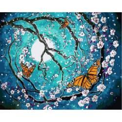 Бабочки в лунном свете