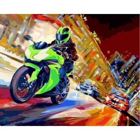 Картина по номерам «Скорость », модель VP661