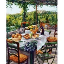 Завтрак с сыром и вином