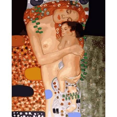 Картина по номерам «Любовь матери Худ. Климт Густав», модель VP744
