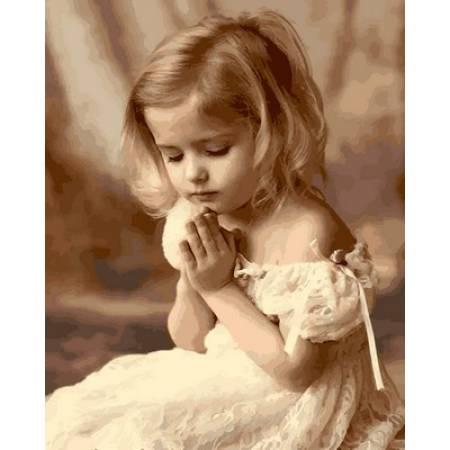 Картина по номерам «Молитва ребенка», модель Q2107